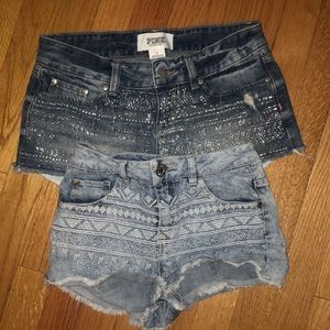 Two patterned shorts!